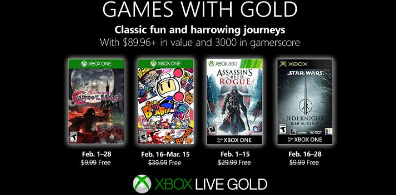 Games with Gold in February drops a bomb with some decent games