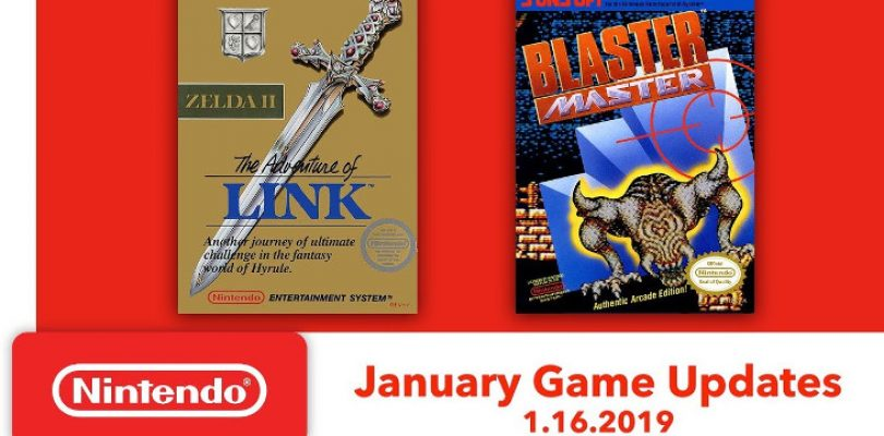 The Legend of Zelda II and Blaster Master are your two NES Switch games in January