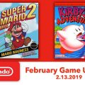 Kirby's Adventure and Super Mario Bros. 2 are your Switch NES classics this month