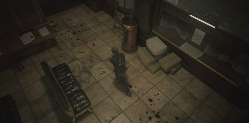 This is what fixed cameras would look like in Resident Evil 2 remake