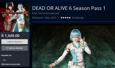 The R1,449 Dead or Alive 6 season pass 1 is dead on arrival on PS4