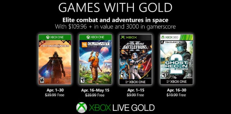 Games with Gold goes sci-fi in April
