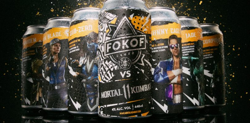 Soon you'll kick back with some Fokof Lager vs Mortal Kombat 11 beer cans