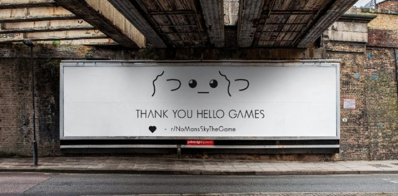 No Man's Sky fans bought a billboard to say thanks to Hello Games