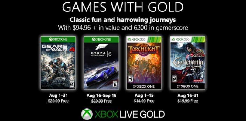 Games with Gold in August comes with the best vrooms and vreems money can buy