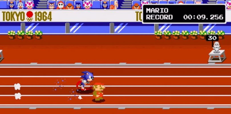 Mario & Sonic going 2D for the Tokyo Olympics