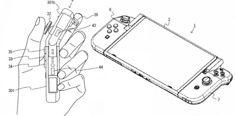 Hinged Joy-Con patent filed by Nintendo