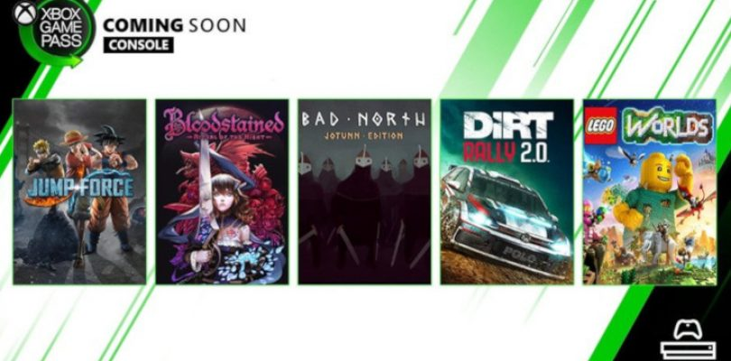 DiRT Rally 2.0, Jump Force and more heading to Xbox Game Pass this month