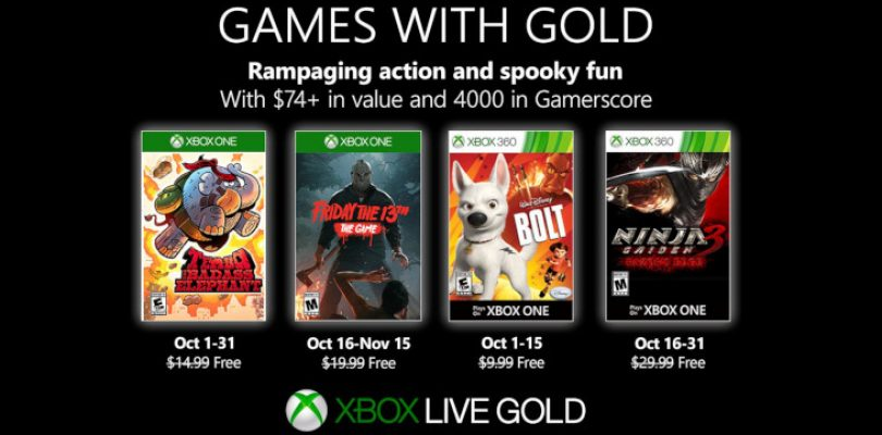 Games with Gold is horrifying in October