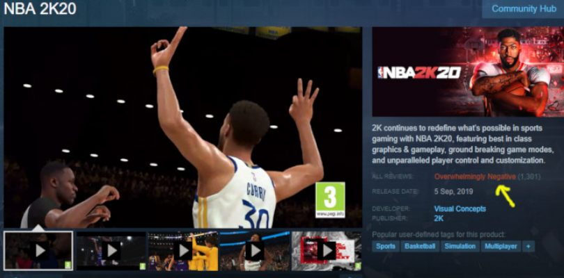 NBA 2K20 is being review bombed due to out-of-bounds gambling mechanics