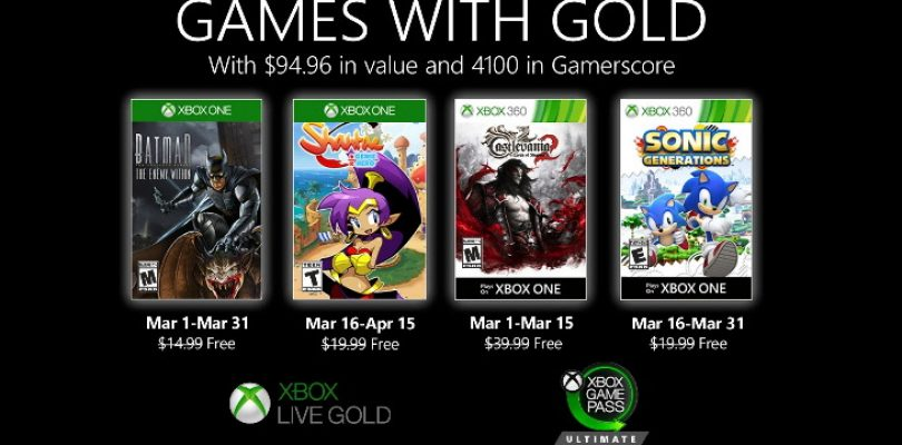Become the Batman with March's Games with Gold lineup