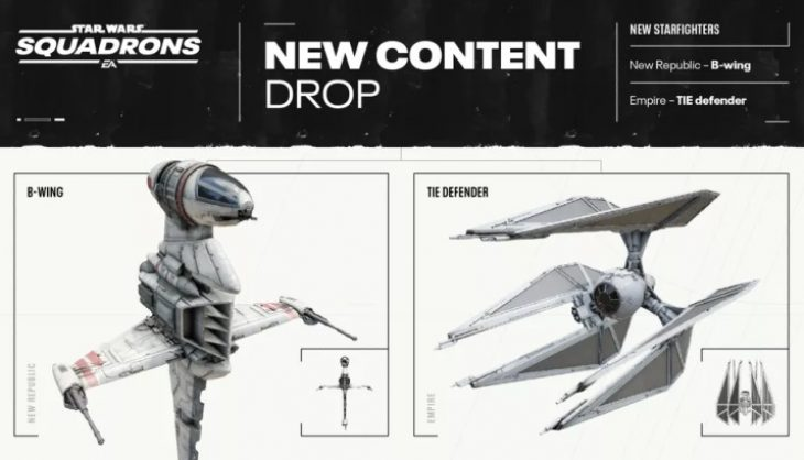 Star Wars Squadrons is getting B-wings