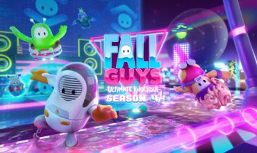 Check out this Fall Guys level from Season 4, complete with sci-fi lights and Flippity Bippities