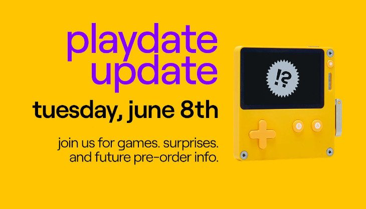 Playdate video Update announced for tomorrow